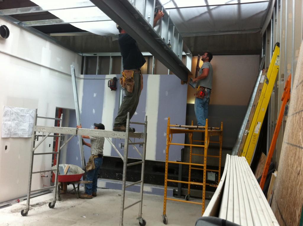 Construction at the Killam entrance. Photo by Asha Katz.
