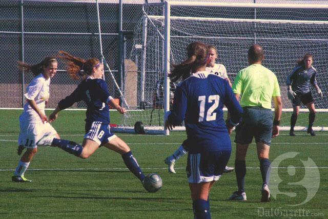 Women's Soccer wins 1-0 against St. FX. Photo by Alice Hebb