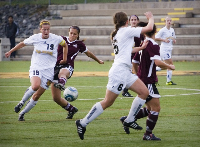 Women's soccer, Oct 21. Photo by Rob Grandy