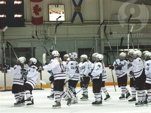 Saint Mary's hockey. Photo by Richard Lafortune