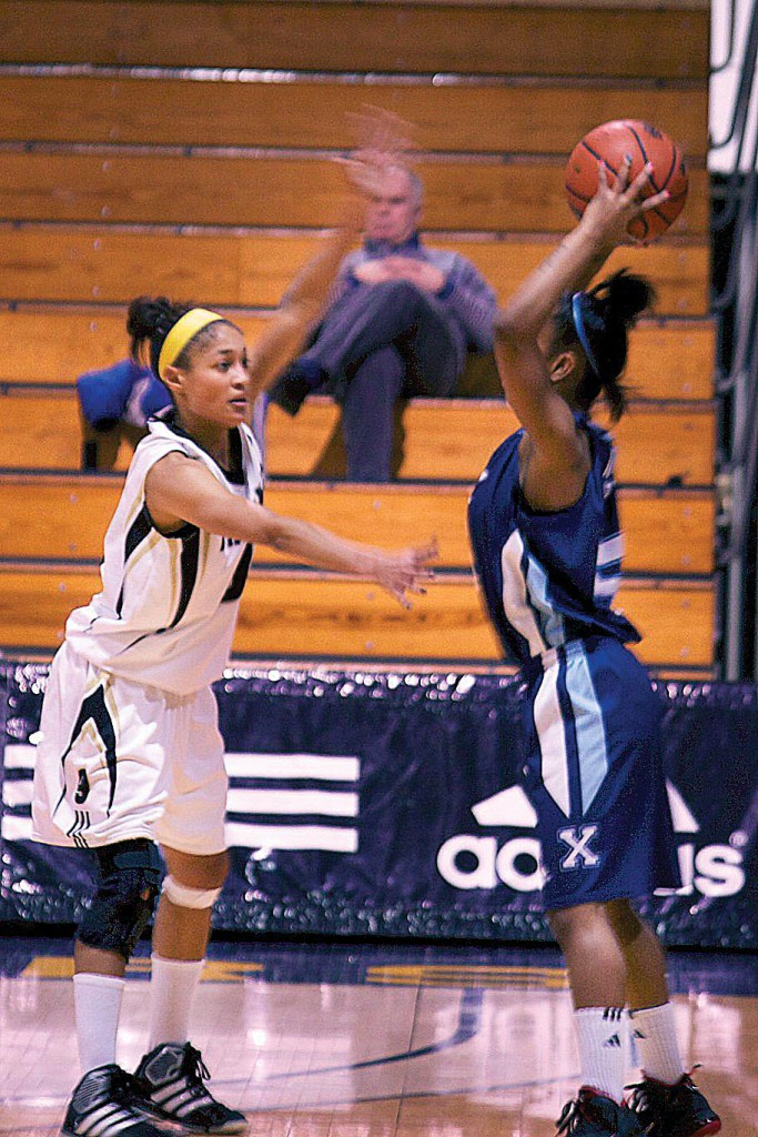 Dal, including guard Keisha Brown, didn't give St. FX much opportunity with the ball Jan. 29. Photo by Alice Hebb.
