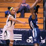 Guard Keisha Brown helped Dal hold St. FX to a paltry 42 pts. Photo by Alice Hebb