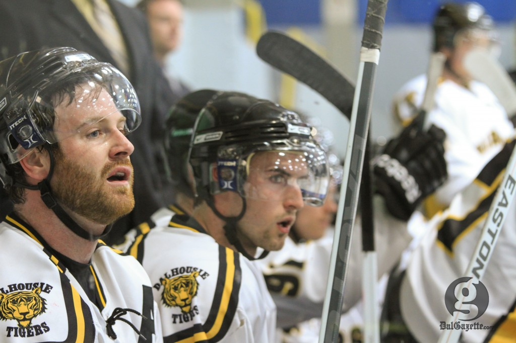Men's hockey earned one of four points over the weekend. (Bryn Karcha photo)