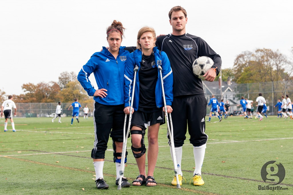 Stories of the disabled list: Sarah Wojcik, Andrea Gillis and Brendan Parsley. (Chris Parent photo)