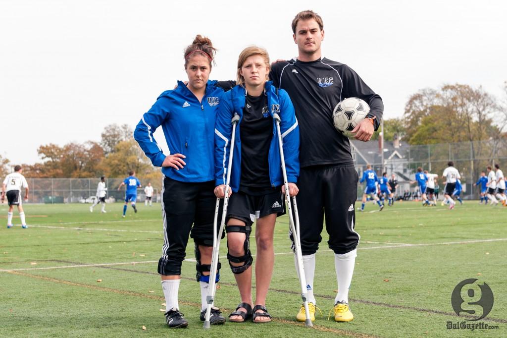 Stories of the disabled list: Sarah Wojcik, Andrea Gillis and Brendan Parsley. (Chris Parent photo)