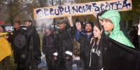 The Occupy eviction, Nov. 11, 2011 (Bryn Karcha photo)