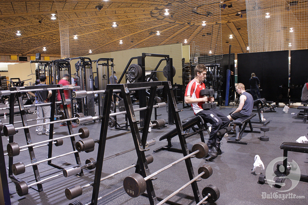Our old weight room isn't so old anymore. (Abram Gutscher photo)