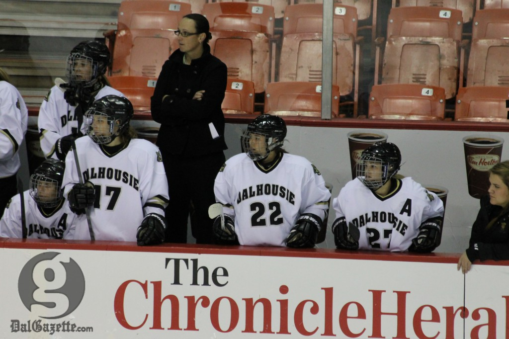 Dalhousie's women's hockey team met with the university president on Jan. 14. (Richard Lafortune photo)