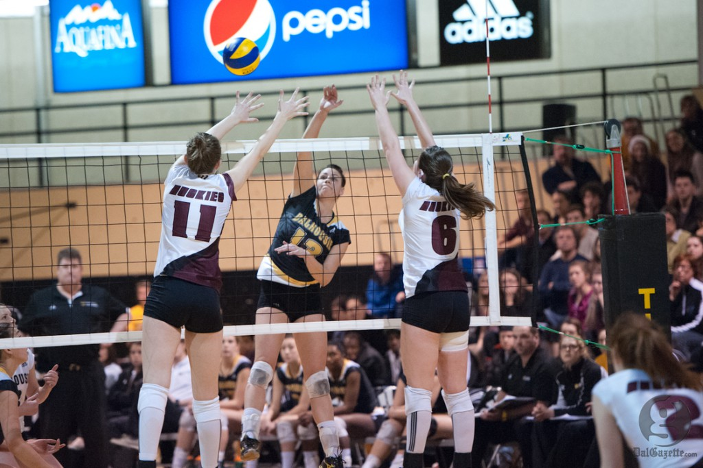 Dal's women's volleyball team will play in the AUS Championship semi-finals on Feb. 16 (Chris Parent photo)