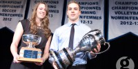 Dal athletes of the year Rieka Santilli and David Sharpe. (Chris Parent photo)