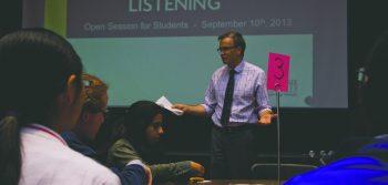 President invites students to 100 Days of Listening
