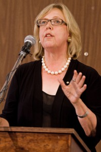 Elizabeth May was originally planning to speak at the rally in Ottawa. (Bryn Karcha photo)