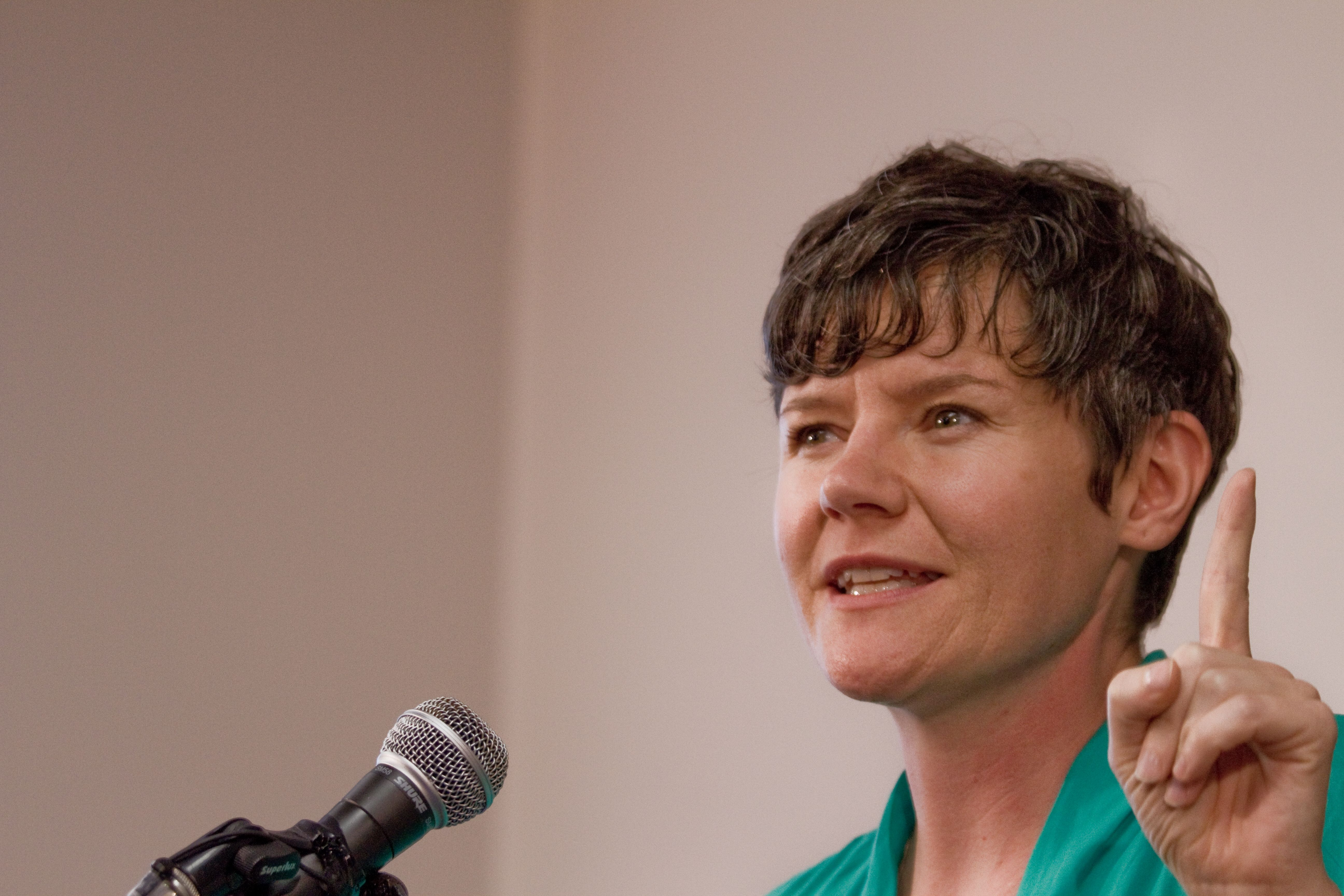 Megan Leslie doesn't oppose Conservative policies, just Harper's. (Bryn Karcha photo)