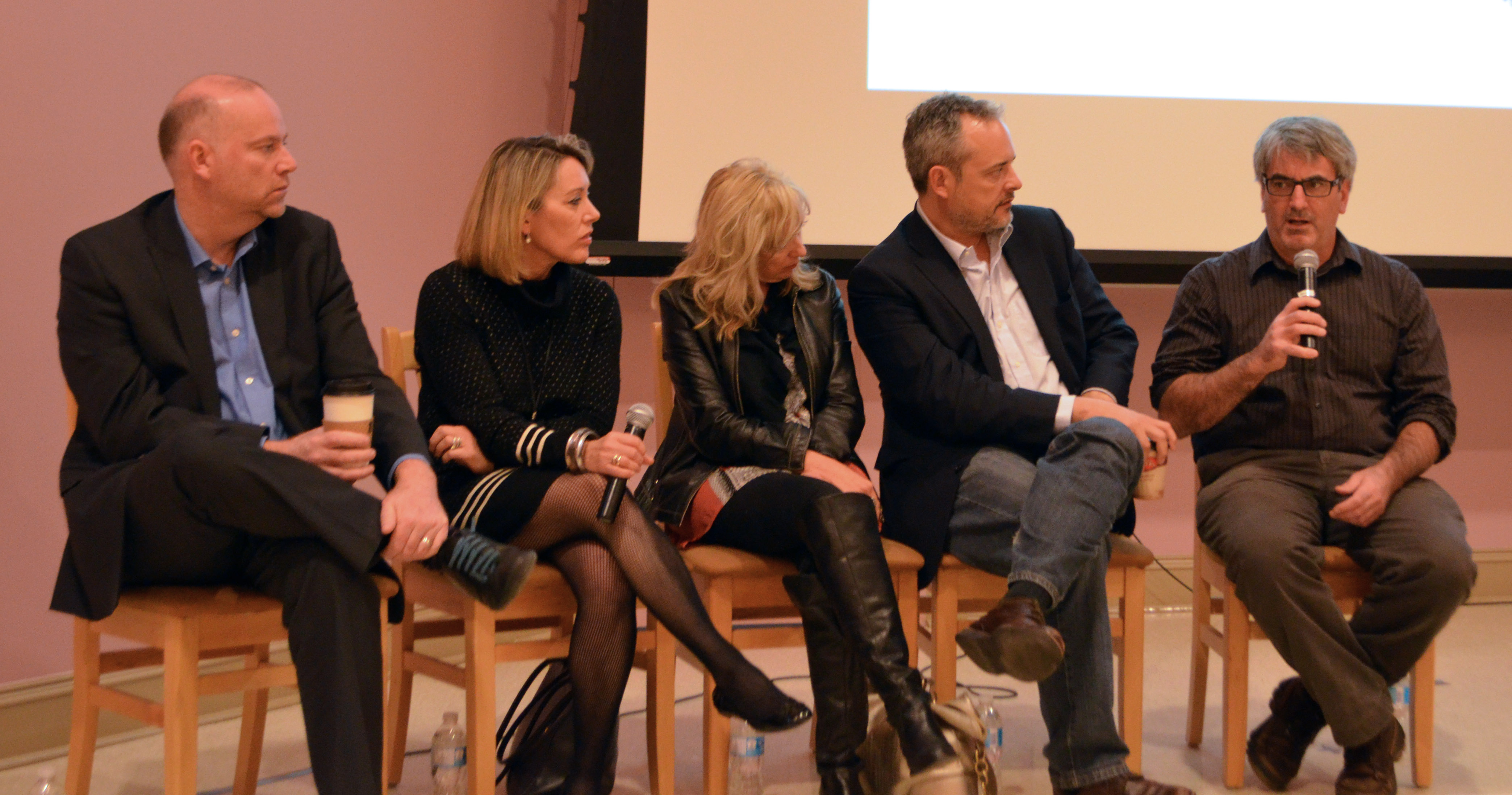 Tim Bousquet, far right, is worried about the future of journalism (Photo by Dave Lostracco)