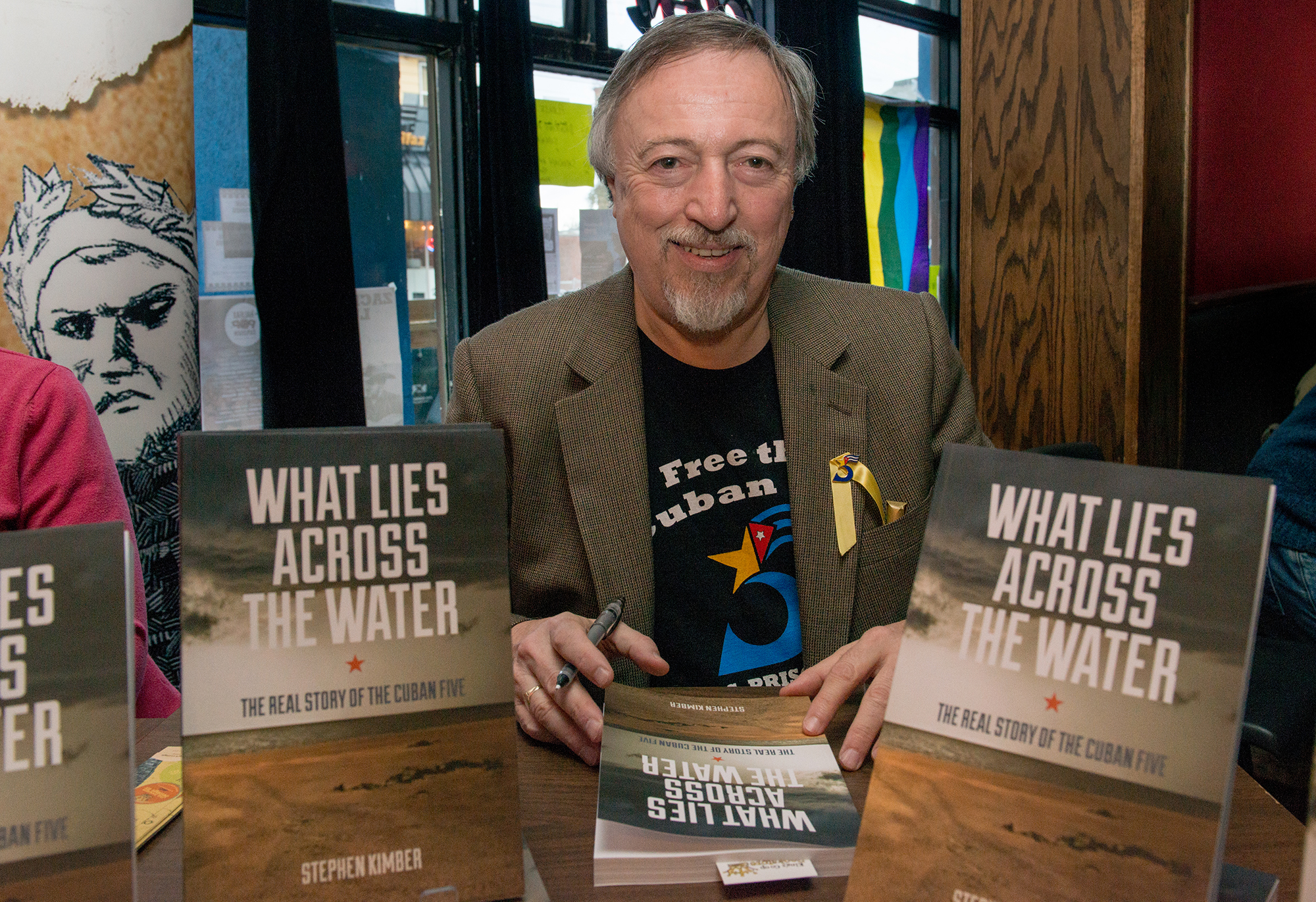 Stephen Kimber at his novel release event (photo by Amin Helal)