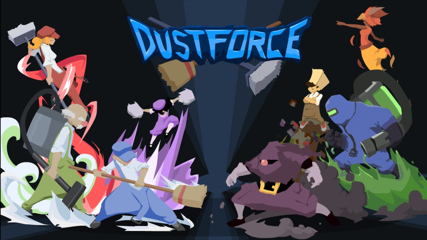 Dustforce's title screen shows you the 2D inspirations (press photo)