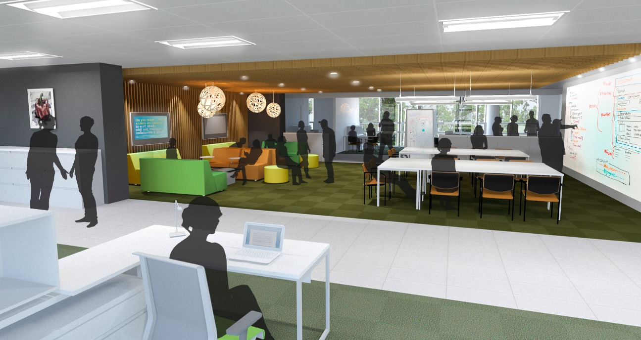 The new society collaboration hub (photo supplied by Lydon Lynch Architects)