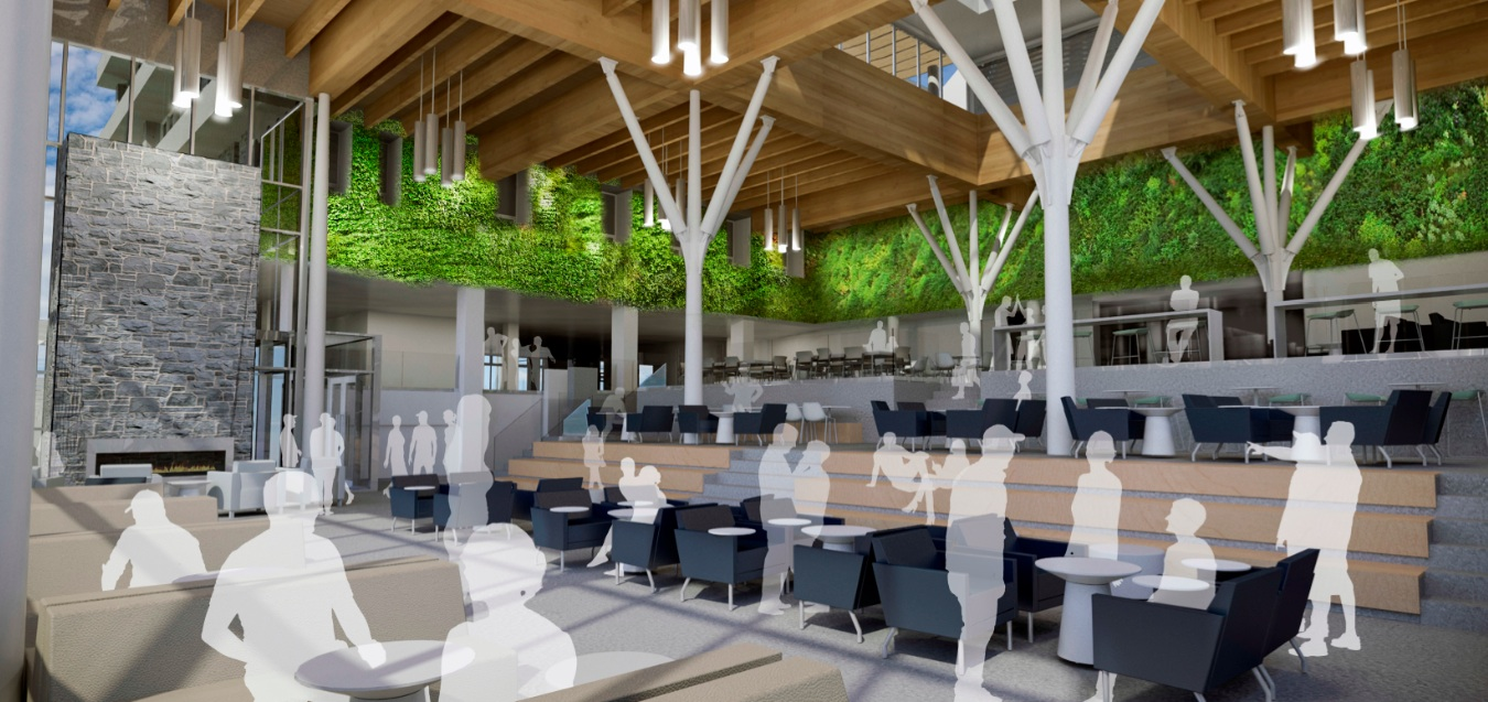Keith Tufts says the new atrium may be a good concert venue (photo supplied by Lydon Lynch Architects)