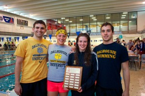 Tigers swimmers made a big splash in Wolfville, finishing first again (Photo by Kit Morgan)