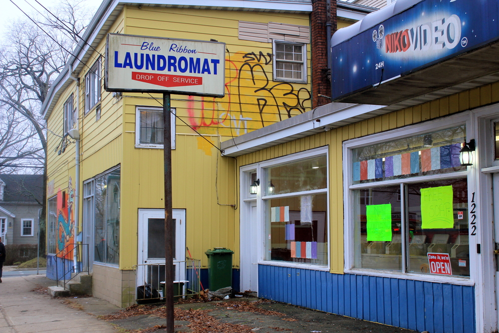 This run-down laundromat might be getting a new lease on life. (Photo by Deborah Oomen)