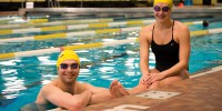 Swimmers Joe Ur, left, and Molly Wedge have had plenty to smile about recently. (Photo by Kit Moran)