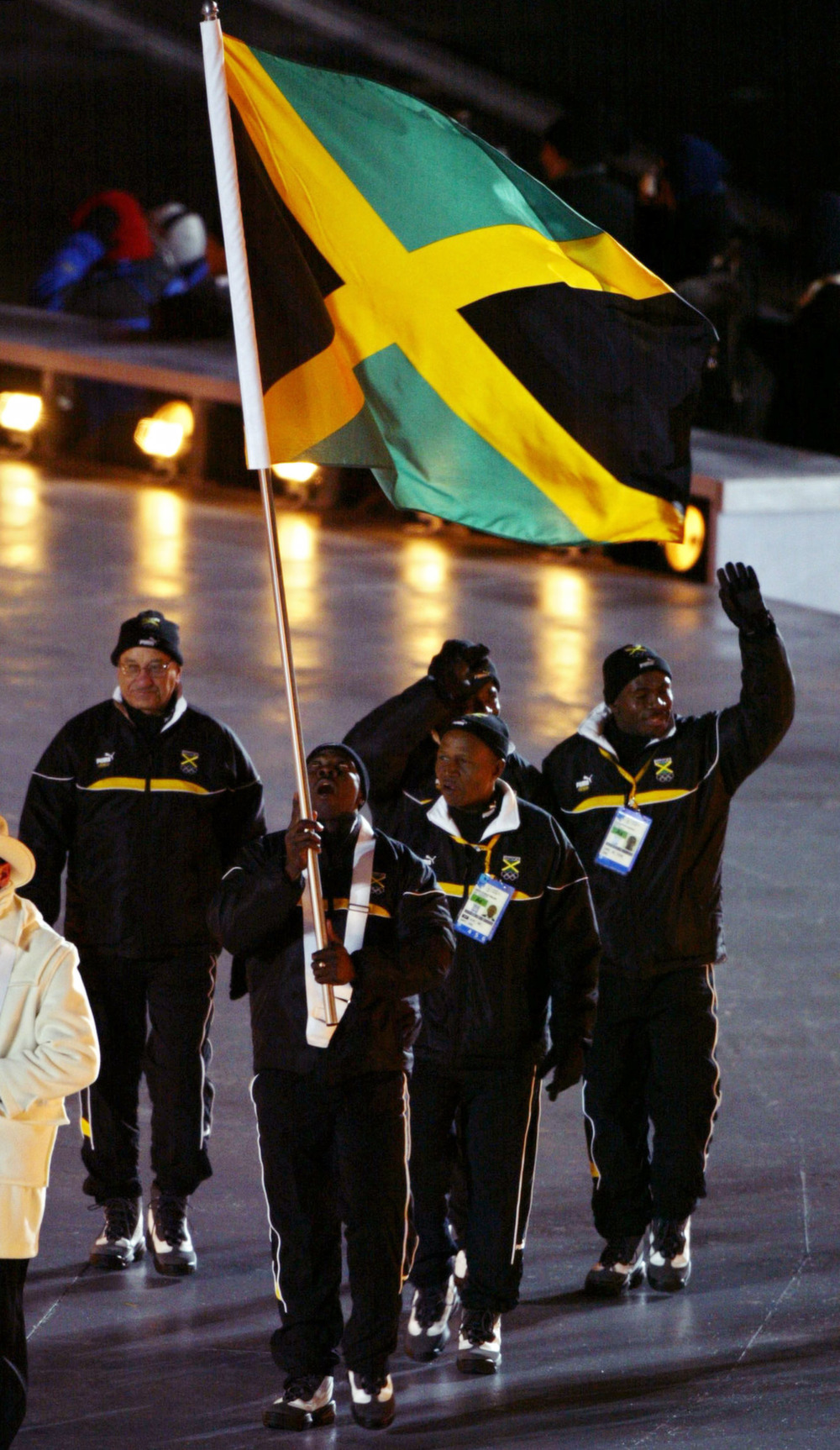 Jamaican delegation headed by bobsleigh athlete Wi