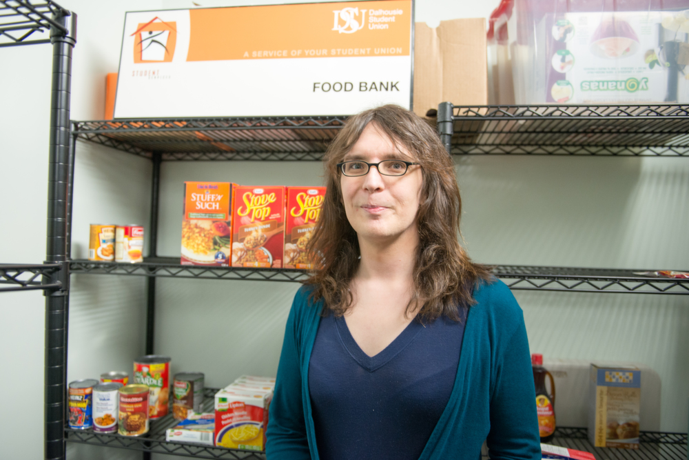 Jessica Dempsey, food bank coordinator. (Photo by Amin Helal)