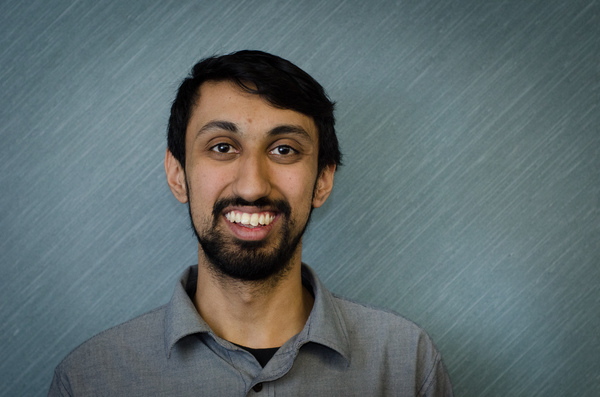 A portrait of Sagar Jha from the DSU 2013 election campaign. (Photo by Calum Agnew)