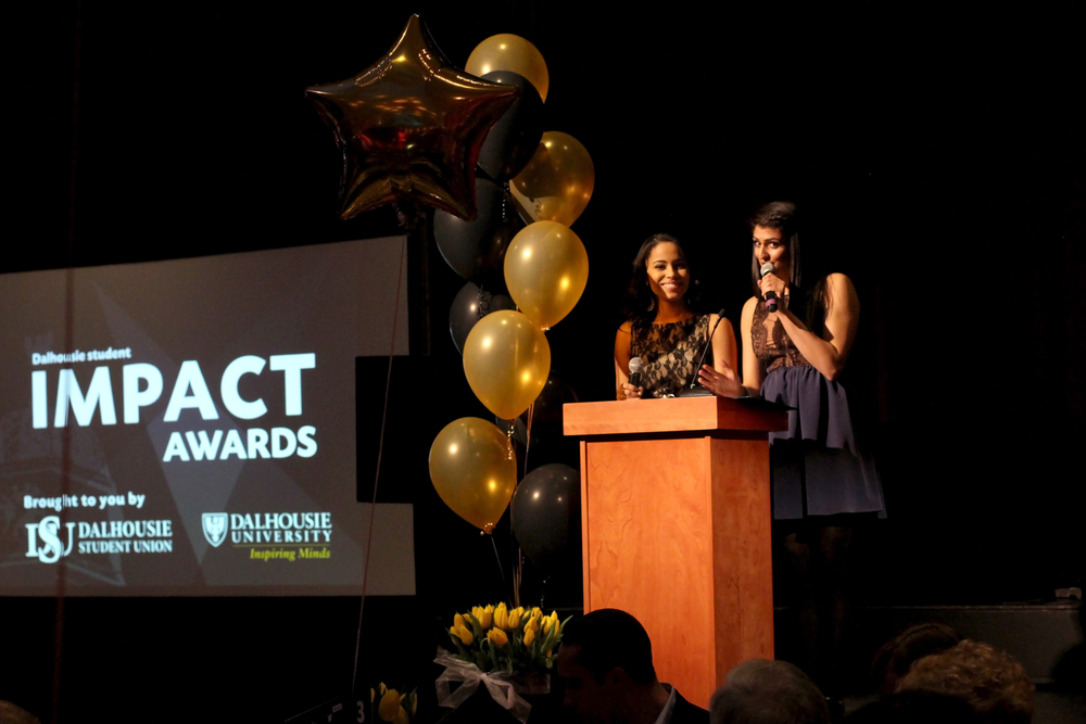 Many students and societies were recognized at the third annual Impact Awards. (Photo by Ali Seglins via Dal Student Life)