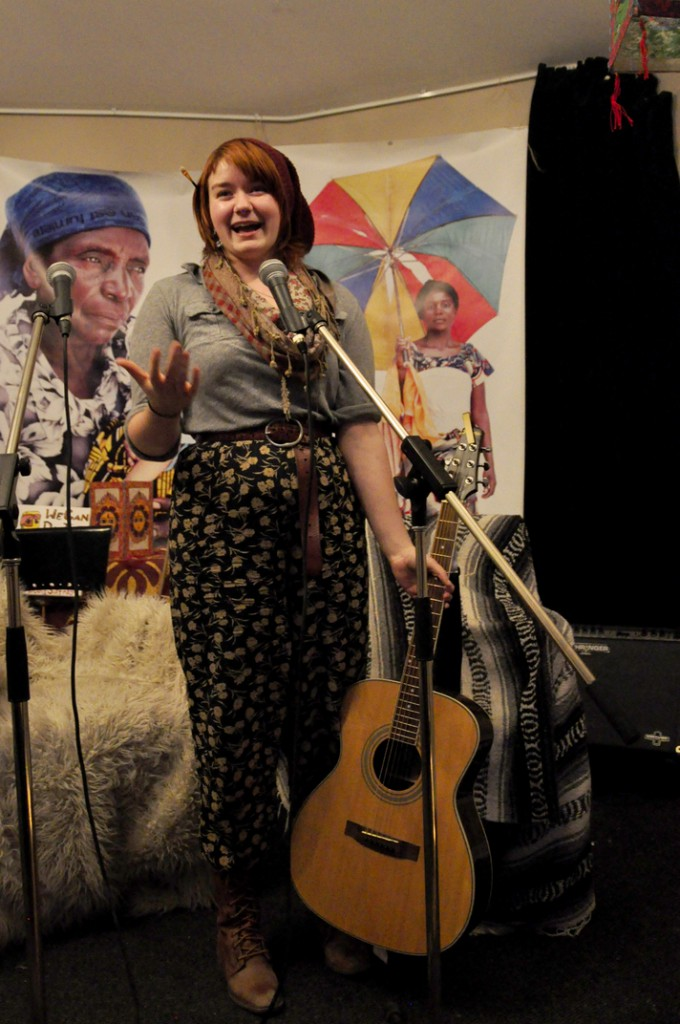 Oxfam president Ali Calladine came out strings swingin'. (Photo by Robyn Moore)