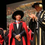 Shin Dong-hyuk received a honorary doctorate from Dalhousie on Tuesday. (Photo by Nick Pearce via Dalhousie)