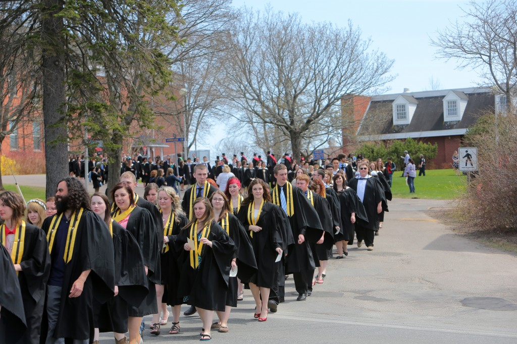 The 217 graduates from the Dalhousie Agricultural Campus in procession. (Photo by Nick Pearce via Dalhousie)
