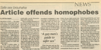 Controversial Gazette story, March 1991.