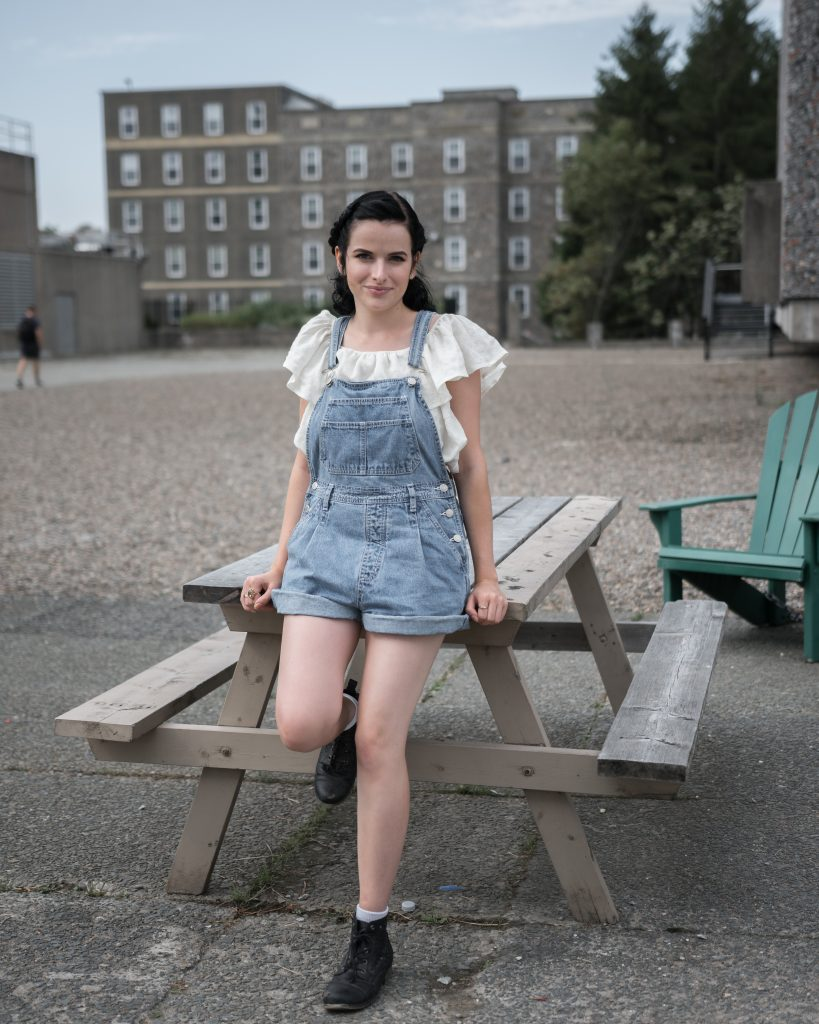 Vivian Masswohl @terribledancer Top: Urban Outfitters Jean overalls: stole from a friend Jewelry - family heirlooms