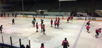 Pink in the Rink night