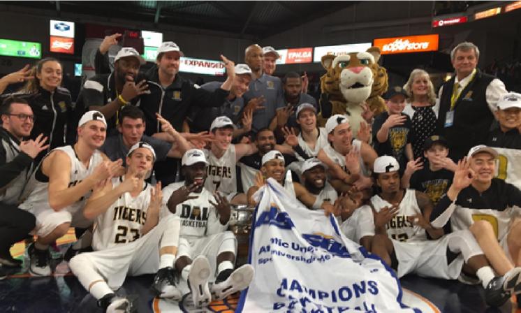 Tigers win third straight AUS championship in men's basketball