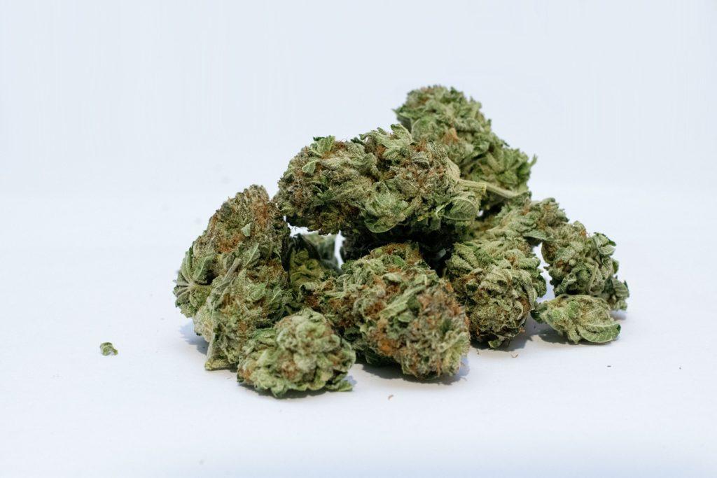 A pile of cannabis.