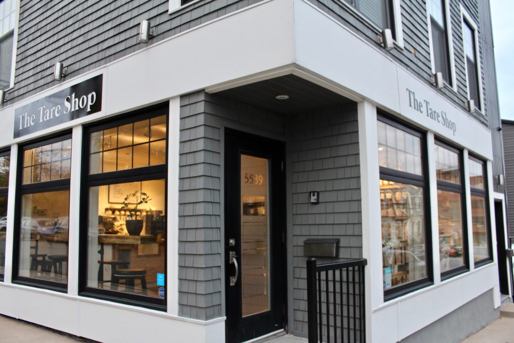 The Tare Shop storefront.