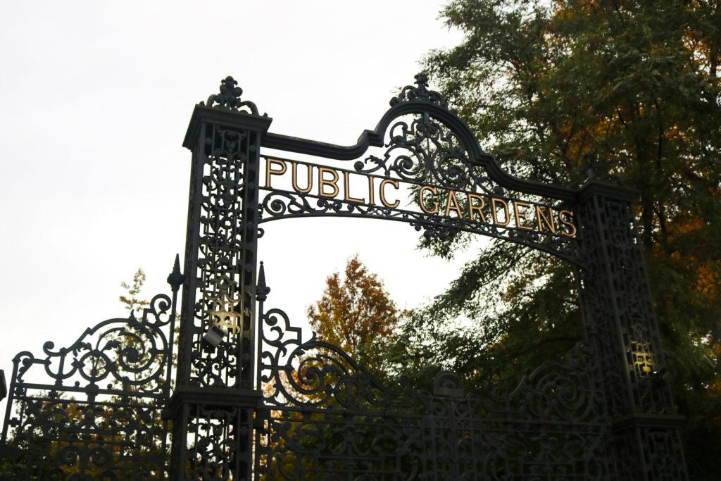 The Public Gardens gate.