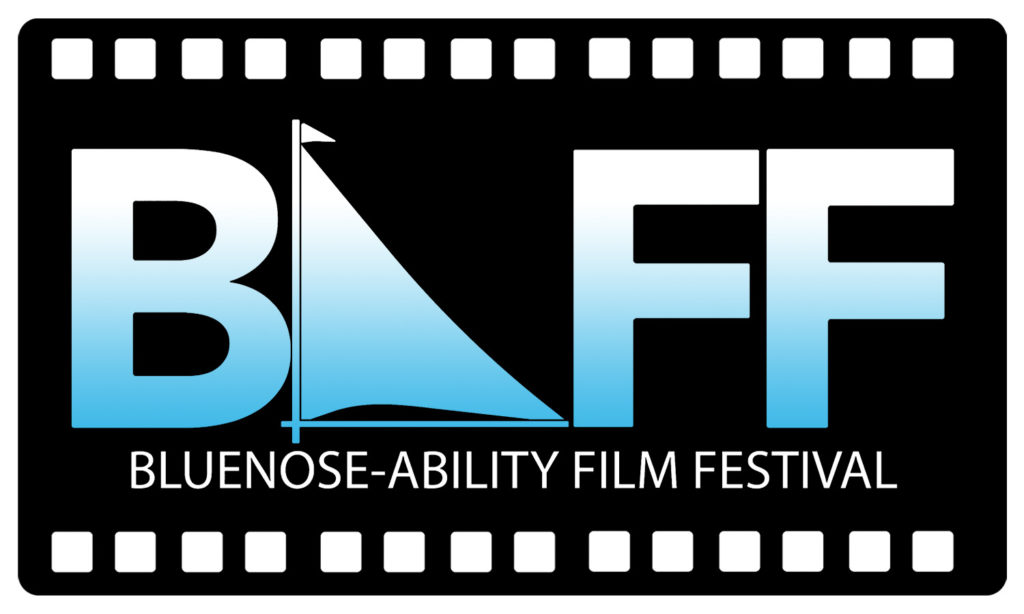 In this image: the Bluenose-Ability Film Festival logo.