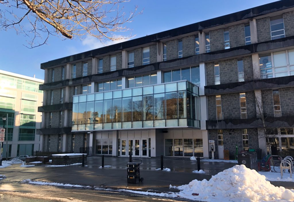 In this image: the Dalhousie Student Union Building on Studley campus.