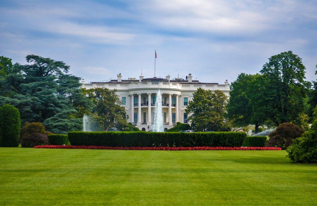 In this image: The White House, Washington DC.