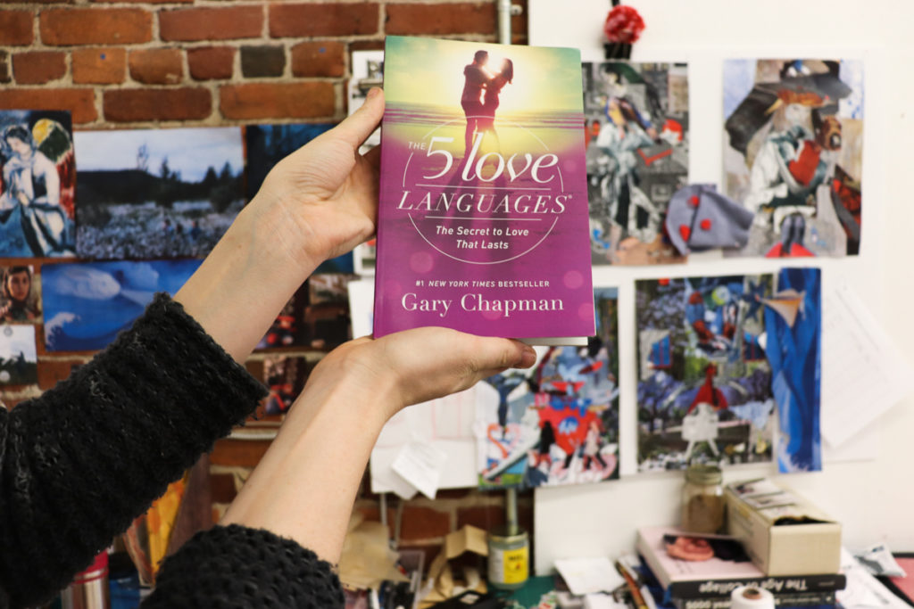 In this image: Gary Chapman's book, The 5 Love Languages.
