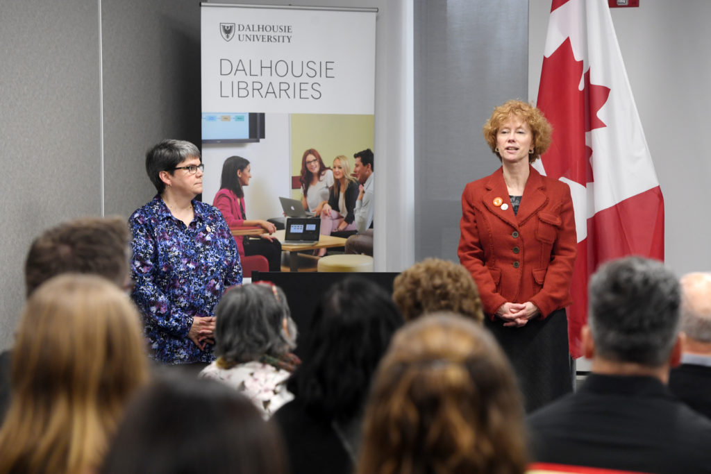 In this image: Elaine MacInnis and Donna Bourne-Tyson of the Dalhousie Libraries.