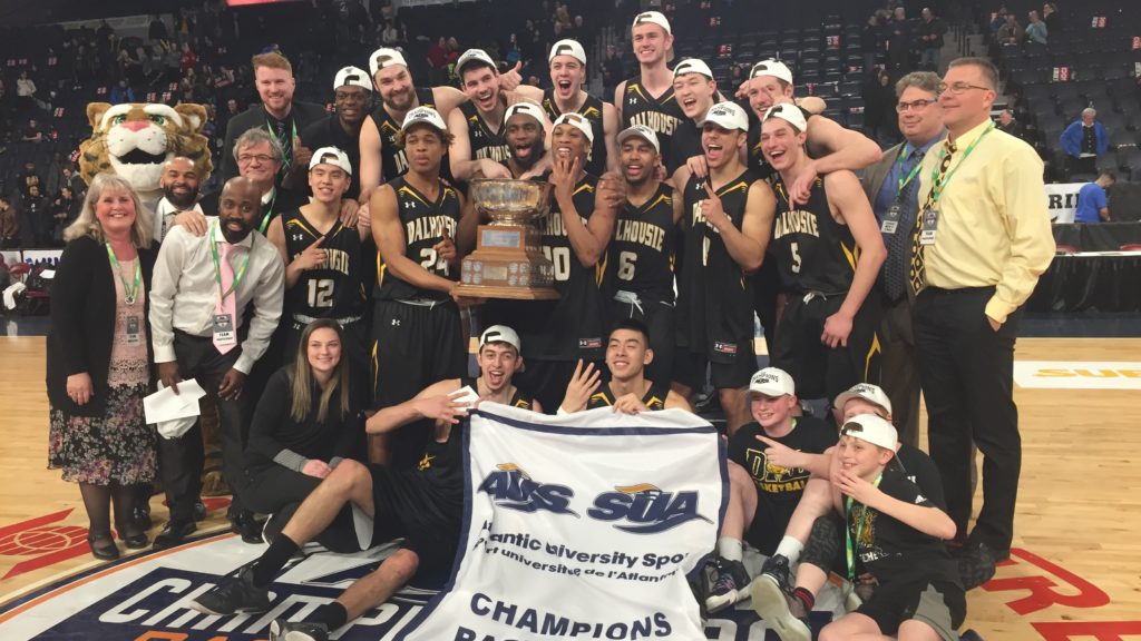 In this image: The Dalhousie Tigers pose for a championship photo at the Scotiabank Centre on March 3.