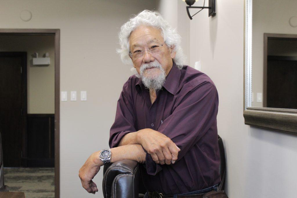 In this image: Portrait of David Suzuki
