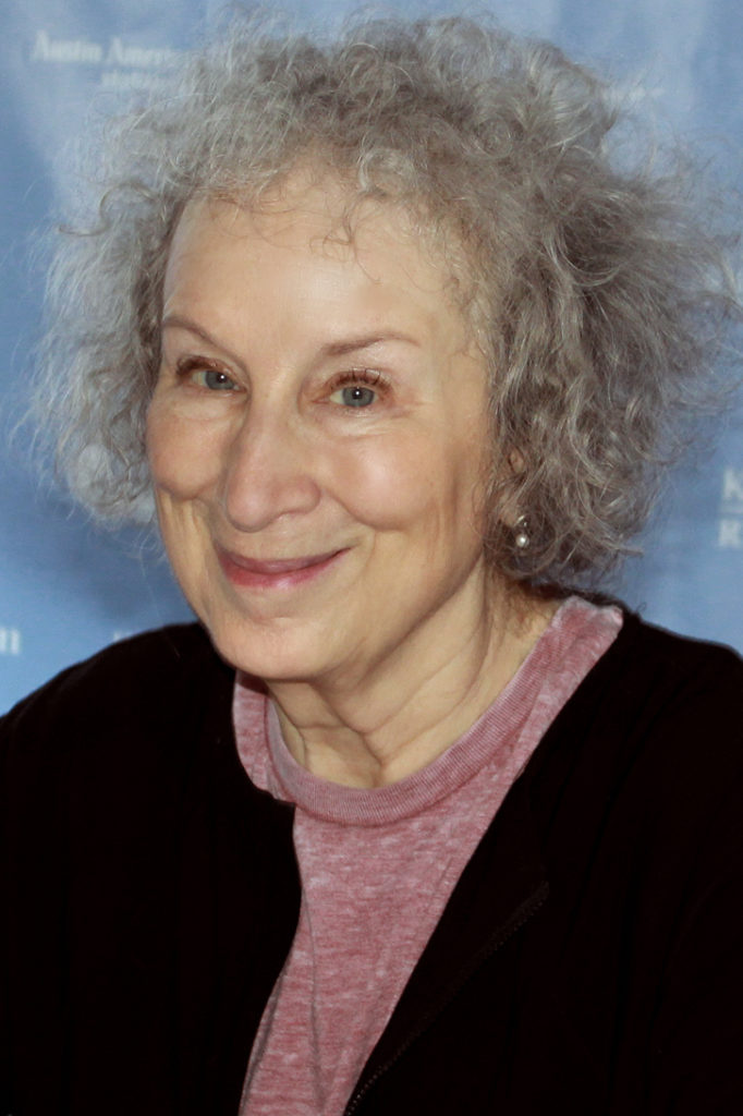 In this image: Margaret Atwood.
