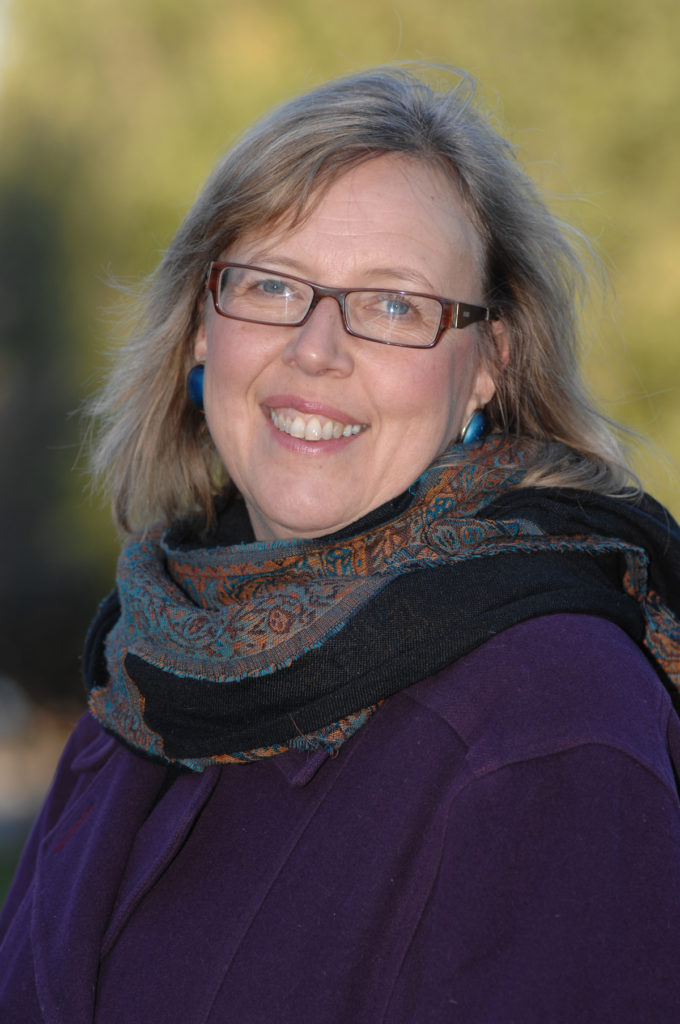 In this image: Elizabeth May