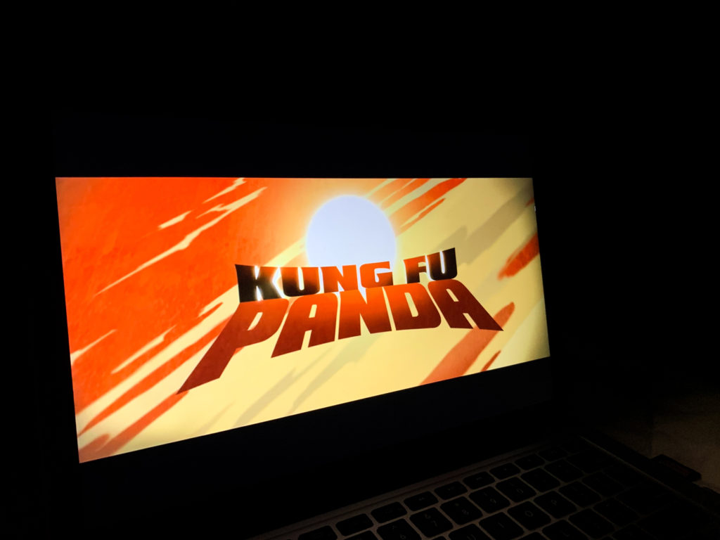 In this image: The Kung Fu Panda title screen.