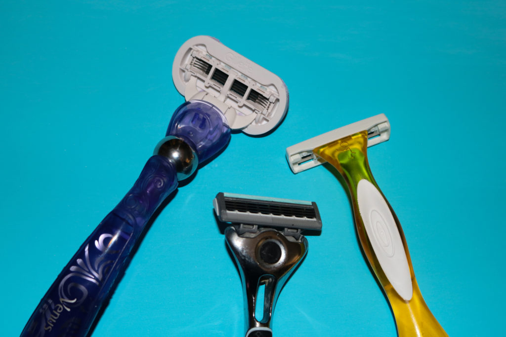 In this image: Three razors.